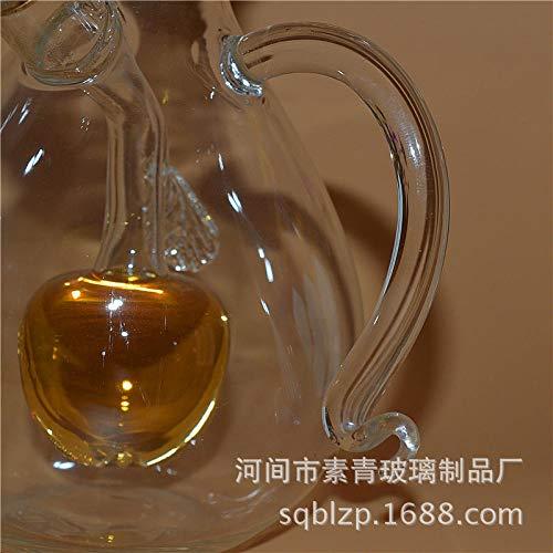 NiNnn Essig & Öl Flaschenausgießer Hitzebeständige Glasvitrine Zwei-Mund-Glasessigflasche Öl Sprayer Ölsprüher Flasche Ölsprüher Mit Essigsprüher