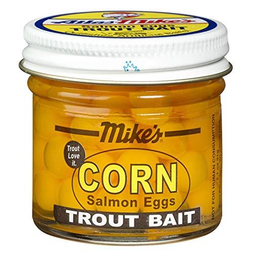 Atlas Mike's Corn Salmon Fishing Bait Eggs, Yellow, 1.1-Ounce