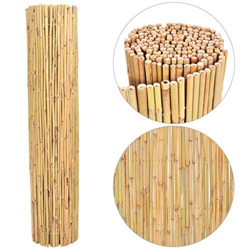 vidaXL Valla Cañizo de Bambú para Jardín Cerca de Ocultacion para Patio Terraza Vallado Cercado de Caña 250x170 cm
