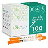 Care Touch - CTIS313 Insulin Syringes | 31g 5/16' - 8 mm .3 cc (Pack of 100)