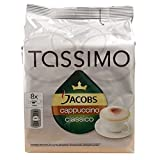 Factory Sealed Pack Tassimo T-Disc Pods Jacobs Cappuccino Classico Coffee - 8 Servings - Includes Creamer Pods