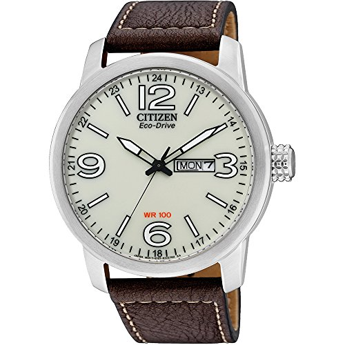 Citizen Herren Analog Quarz Uhr mit Leder Armband BM8470-03AE
