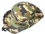 Kids Boys Camouflage-Sun-Hat Outdoor Bucket-Boys Fishman-Hat Cap Packable (Camouflage, 54cm-21.26''(4-6Y))