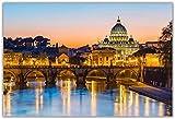 Vaticano atardecer puesta de sol arte pintura mural