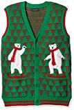 Blizzard Bay Men's Polar Bear Dance Party Ugly Christmas Sweater, Green, Large