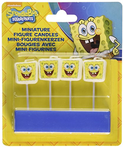 Amscan International Sponge Bob Schwammkopf kleine Kerzenfiguren