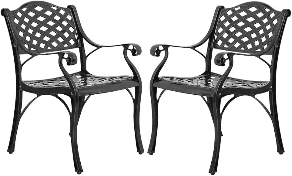VIVIJASON 2-Piece Patio Cast Aluminum Sales for sale Outdoor favorite Bis Chairs Dining