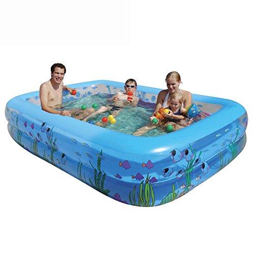 sunjun & Famille piscine gonflable famille Grand piscine rond épais Jeu piscine adultes Baignoire