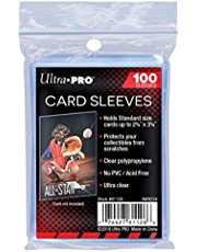 Ultra Pro Soft Card Sleeves 2-5/8-Inches X 3-5/8-Inches, Ultra Clear (100-Count)