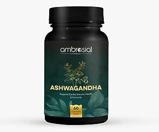 Ambrosial Ashwagandha 500 mg | 60 Capsules (Pack of 1)