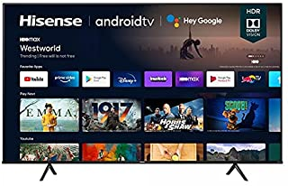 Hisense 75 Inch TV 4K UHD Smart TV, With Dolby Vision HDR, DTS Virtual X, YouTube, Netflix, Freeview Play & Alexa Built-i...