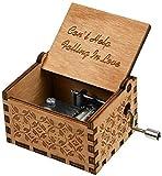 Carillon, manovella in Legno 《Can't Help Falling in Love》 Carillon a Tema,Carillon Classico in Legno con manovella, Regali per Compleanno/Natale/San Valentino