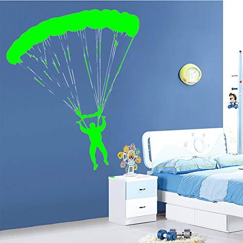 Ajcwhml Fallschirmspringen Tapete Hauptdekoration Wandaufkleber Dekoration Wohnzimmer Schlafzimmer abnehmbare Hauptdekoration grün 58cm X 70cm
