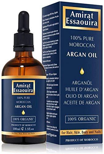 Olio di Argan Puro al 100% Spremuto a Freddo 100ml (Made in Marocco).
