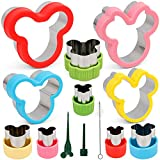 BakingWorld Mickey Mouse Cookie Cutter Set ,10 Pcs Mickey Minnie Mouse Head Shapes Stainless Steel Sandwich Cutters Mold for Cakes Biscuits Vegetables Fruits and Sandwiches(Assorted Sizes)