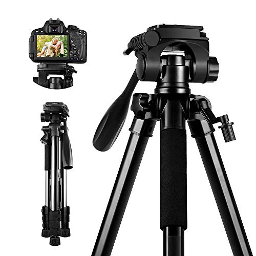 SAMTIAN Kamera Stativ Handy Tripod, Aluminumlegierung 360 ° Panorama Kugelkopf Reisestativ Kamerastativ mit Handy Halterung Wasserwaage Stativtasche für Video Vlog Canon Nikon Olympus Panasonic