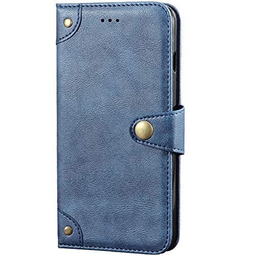 Dingshengk Azul Retro Genuino Carcasa Funda para Wieppo S6 / S6 Lite Magnética Premium Caso Protección Cuero Billetera Antigolpes Cover Teléfono Case Etui