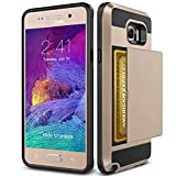 Note 5 Case, TekSonic Samsung Galaxy Note 5 Case (Gold) [Card Slide Slot][Drop Protection][Heavy Duty][Wallet] Full Cover Protection Tough Case for Samsung Galaxy Note 5 (Golden)