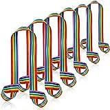 6 Guinzaglio per Pattini a Rotelle Arcobaleno Tracolla Regolabile per Trasporto del Pattino Guinzaglio Fascia per Tracolla da Skate Tracolla per Pattini a Rotelle per Pattini da Bambini