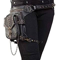 ★100% Brand New and High Quality.Size:8.4*1.2*11.6 in(L*W*H).Length of waist strap :59in,Length of leg strap :19.6in. ★Material:PU Leather + Polyester lining, Durable material and workmanship to withstand daily wear & tear ★Multifunctional: Waist Bag...
