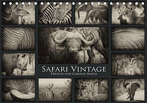 Safari Vintage (Tischkalender 2019 DIN A5 quer): Carolin Barth nimmt Sie mit auf eine virtuelle Safari. (Monatskalender, 14 Seiten ) (CALVENDO Tiere)