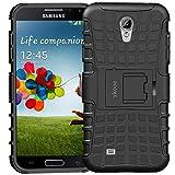 ykooe Coque pour Galaxy S4, Etui Housse Galaxy S4 TPU Antichoc avec Béquille Double Protection pour Galaxy S4 (Noir)