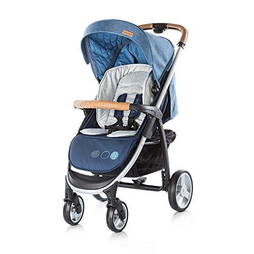 Chipolino Kinderwagen Avenue 2 in 1 Ein-Hand-Faltsystem, Babywanne, Sportaufsatz blau