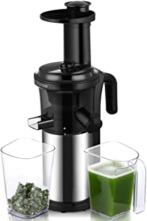 Biolomix BPA FREE 200W 40RPM Masticating Slow Juicer Low Speed Auger Fruit Vegetable Cold Press Juice Extractor Squeezer S...