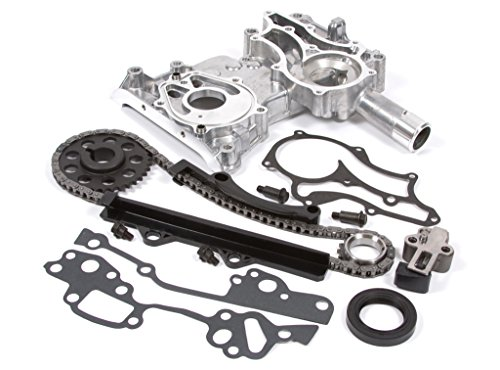 Evergreen TCK2000 Compatible With 85-95 Toyota 22R 22RE 8-Valves Timing Chain Kit w/Timing Cover
