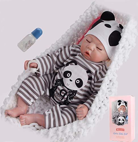 ZIYIUI Muñecas Reborn Bebé Niño 20 Pulgadas 50 cm Silicona Suave Vinilo Natural Hecho a Mano Juguetes Magnéticos Baratos Chicos Dormidos Mejores Regalos de Cumpleaños Reborn Doll
