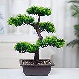 LWBAN-Flower künstliche Bonsai Baum Pflanze für Büro Zuhause Dekoration, 40cm (Grün), Green (A-40cm)