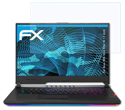 atFolix Schutzfolie kompatibel mit Asus ROG Strix Scar III 17 inch Folie, ultraklare FX Bildschirmschutzfolie (2X)