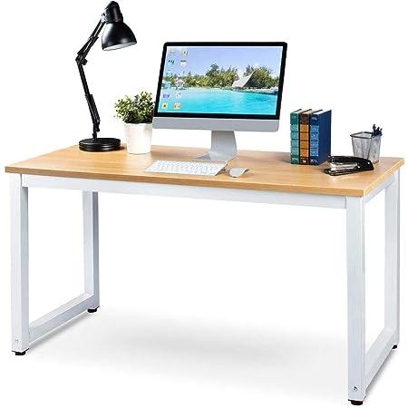 per casa e ufficio bianco studio Scrivania grande per computer con cesto portaoggetti in tessuto per computer portatile postazione di lavoro di grandi dimensioni