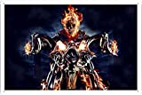 Abstract Sign - Ghost Rider Motorcycle Fire Skull 63047 Metal Tin Poster