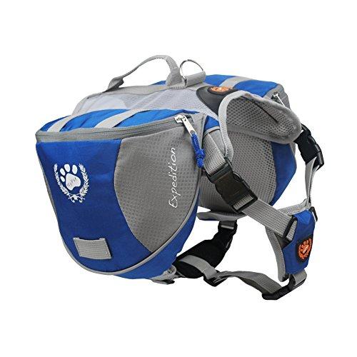 BlackDoggy Hundetasche, wasserabweisend, verstellbar, Expeditions-Rucksack, Satteltasche, Rucksack mit reflektierenden Streifen für Wandern, Camping, Reisen