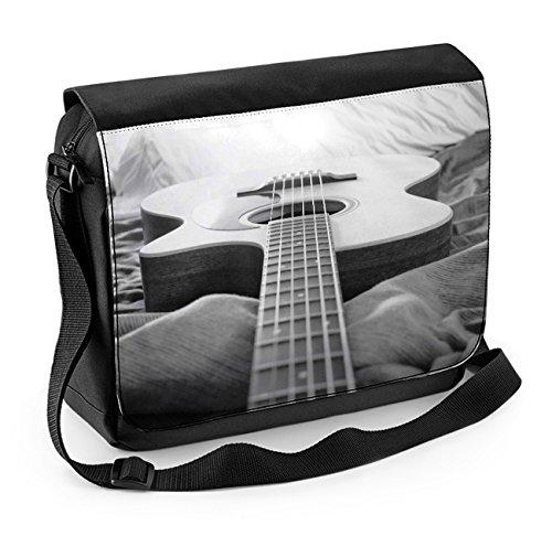 Laptoptasche für Akustikgitarre, Schwarz / Weiß