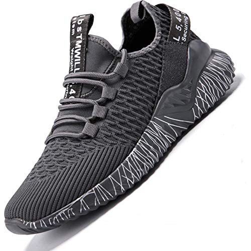 N/F Plus Size Lightweight Running Shoes Men's Summer Sneakers Men's Shoes Sports Male Sneakers Sport Grey Gym Tennis Chausure E-465