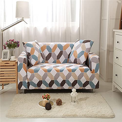 WXQY Funda de sofá elástica para Sala de Estar, sofá de Esquina, Toalla, Juego de sofás elásticos a Prueba de Polvo con Todo Incluido A8 de 3 plazas