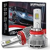 【業界最高輝度】SUPAREE H8 H11 H16 led ヘッドライト 新車検対応 18000LM 48W 12V/24V車対応 ホワイト 6500K ファン付き 爆光 LEDバルブ 2個入り 3年保証