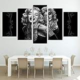 HUANGXLL Arte de la Lona Marilyn Monroe Calavera de azúcar Pintura decoración de la habitación póster Imagen Arte de la Lona Sala de Estar decoración de la pared-30x40cm 30x60cm 30x80cm Sin Marco