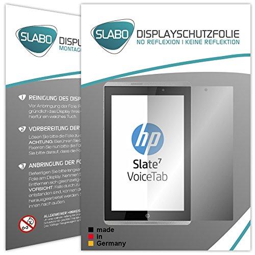Slabo 2 x Bildschirmschutzfolie HP Slate 7 VoiceTab Bildschirmschutz Schutzfolie Folie No Reflexion|Keine Reflektion MATT - Entspiegelnd Made IN Germany