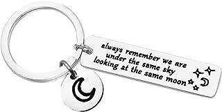 Friendship Keychain Long Distance Relationship Gift Best Friends Keychain Gifts for Couple Boyfriend Girlfriend Relationsh...