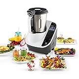 Klarstein Food Circus robot de cocina multifunción (olla al vapor, 10 funciones, fácil control, bol de 2 litros, sin BPA) -...