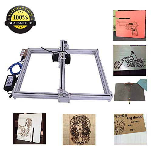 DIY CNC Laser Engraver Kits Wood Carving Engraving Cutting Machine Desktop Printer Logo Picture Marking, 40x50cm,2 Axis (500MW)