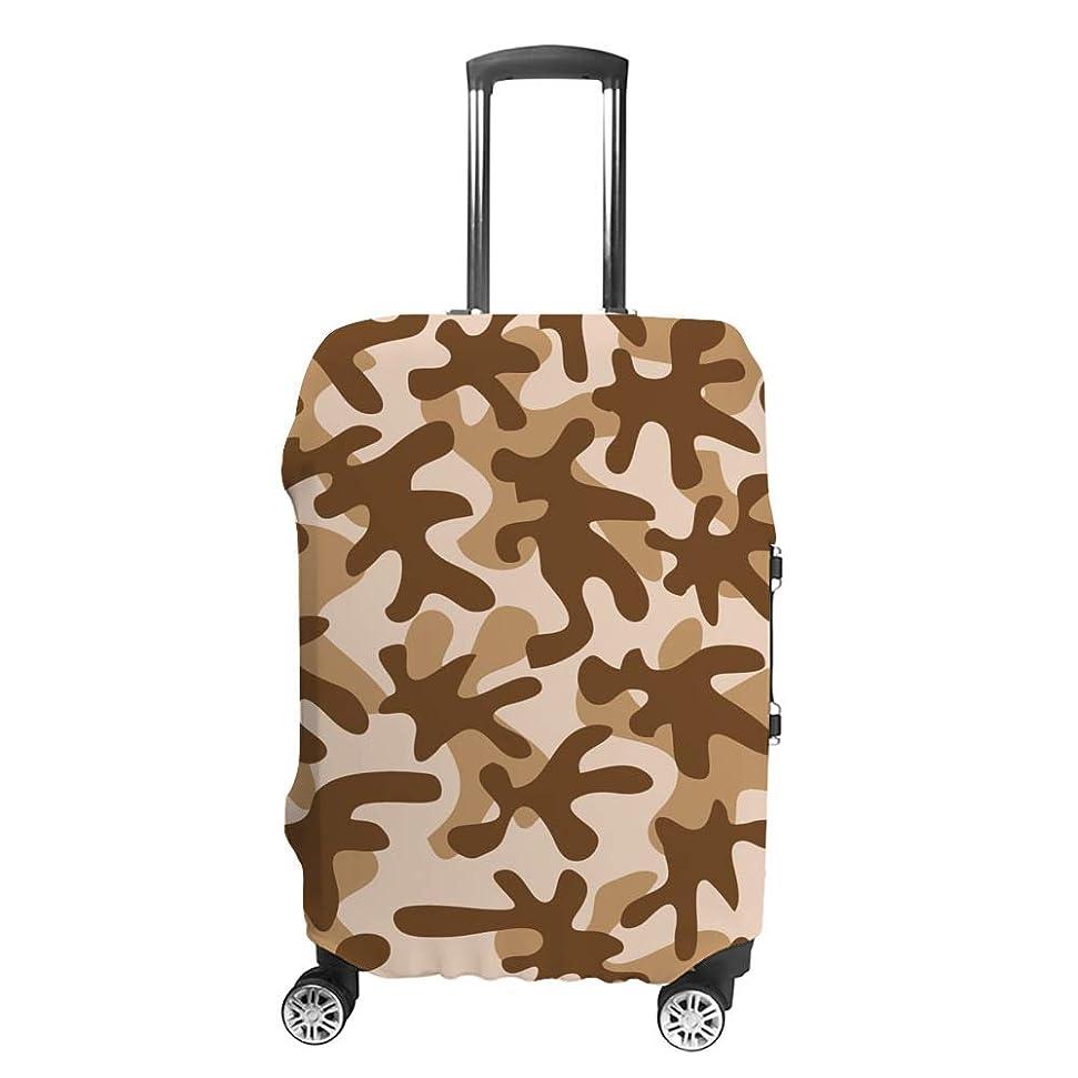 オーバードロー木曜日イチゴスーツケースカバー ?迷彩 ブラウン 伸縮素材 キャリーバッグ お荷物カバ 保護 傷や汚れから守る ジッパー 水洗える 旅行 出張 S/M/L/XLサイズ