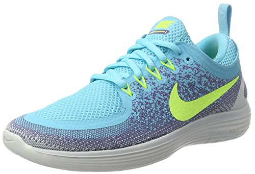 Nike Women's Free RN Distance 2 Running Shoe Polarized Blue/Volt-Iron Purple 8.5