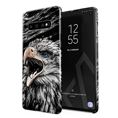 BURGA Hülle Kompatibel mit Samsung Galaxy S10 - Handy Huelle Vogel Wild Adler Eagle Savage Dünn Robuste Rückschale aus Kunststoff Handyhülle Schutz Hülle Cover