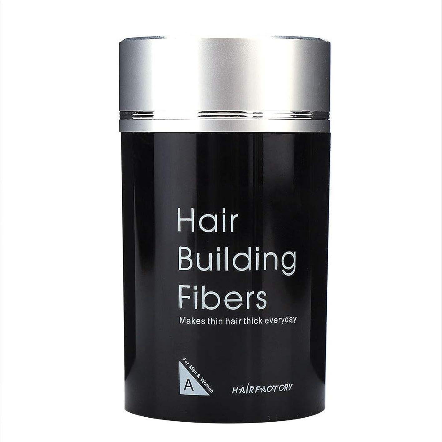 ピースチョコレートふけるヘアービルディングファイバー、ヘアーシックナー抜け毛対策コンシーラーヘアーフラー高密度ツール(ブラック/ダークブラウン)(ダークブラウン)