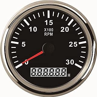 ELING Tachometer REV Counter RPM Gauge with Hour Meter 0-7000RPM 85mm 12V 24V with Backlight