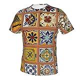 Camisetas de manga corta para hombre, camisetas de béisbol, camiseta de jersey de ropa deportiva Talavera mexicana azulejos M